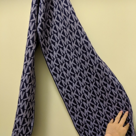 Michael Kors Purple Monogram Scarf